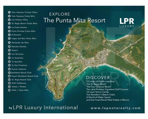Map of Punta Mita Mexico - The Punt Mita resort master plan