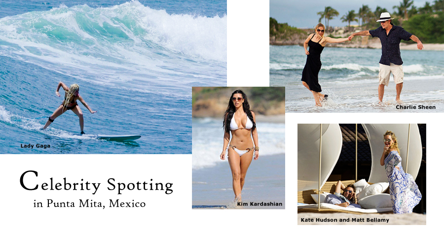 We've had superstar visitors in Punta Mita before but it has been particularly Gaga with a frolicking aSheens and return visits from theKardashain family.