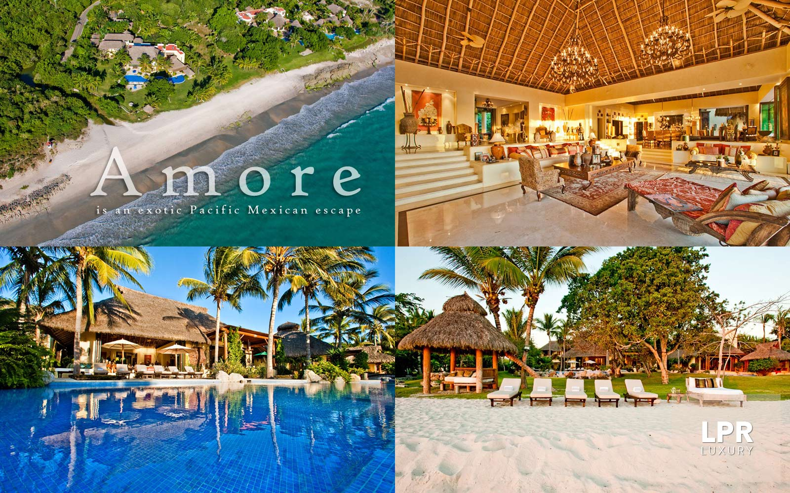Villa Ranchos 1 - Casa Amore sits on soft white sand overlooking sunsets, the Marietas Islands and the world renown Punta Mita Resort, Riviera Nayarit, home to the Four Seasons & The St. Regis resorts