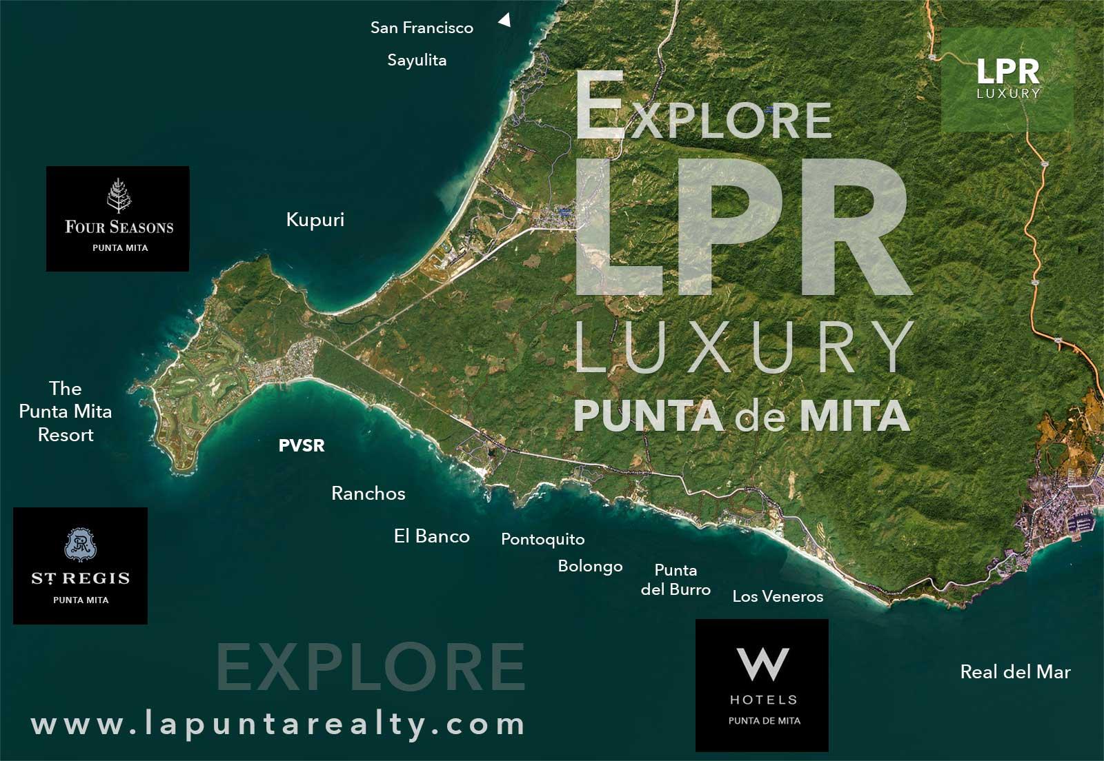 Map of Punta de Mita, Nayarit, Mexico